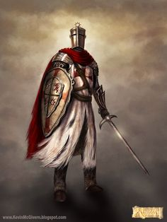 Templar. For Algadon Facebook game. #knight #templar #fantasy #medieval #art #character #illustration