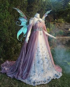 Ultimate fairy dress right here, Wow.Beautiful Fairy Tale Fairy Dress for Ladies New DesignsView the Costume Gallery Firefly Path has created for customers!I just know this is firefly path.don't even haveta check.By Firefly Path From Gothic & Enchant Fantasy Gowns, Fantasy Outfits, Fantasy Clothes, Fairy Clothes, Fairy Dress, Fairytale Dress, Fairytale Costume, Fairy Princess Costume, Fairy Fancy Dress