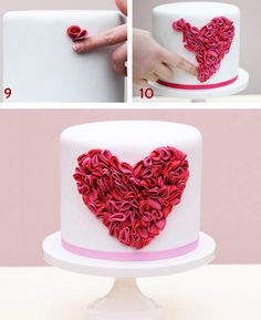Ruffled Heart Cake | Satin Ice