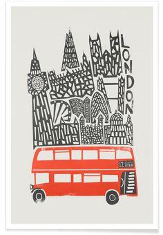 London Cityscape als Premium Poster von Fox & Velvet | JUNIQE