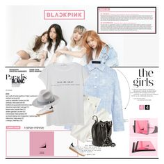 """BlackPink[New Girl Group]"" by rainie-minnie ❤ liked on Polyvore featuring Thakoon, J.Crew, adidas Originals, MANGO and Alexander Wang"