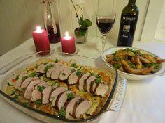 Edels Mat & Vin: Svinefilet på grønnsakseng ♫♫♥ Sushi, Tacos, Food And Drink, Mexican, Ethnic Recipes, Sushi Rolls
