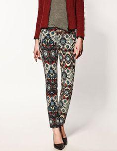Zara Navajo Print Trousers