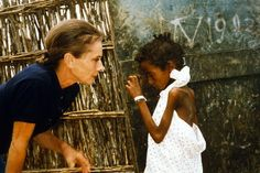 "September 1992, Audrey Hepburn in Somalia. Photo by Robert Wolders""Often the kids would have flies all over them, but she would just go hug them. I had never seen that. Other people had a certain amount of hesitation, but she would just grab them. Children would just come up to hold her hand, touch her,"" John Isaac, UN Photographer."
