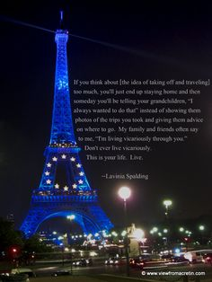 Eiffel Tower.  Quote by Lavinia Spalding.