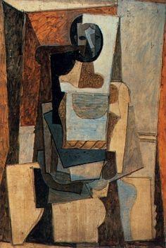 Pablo Picasso, 1918 Femme assise dans un fauteuil on ArtStack #pablo-picasso #art