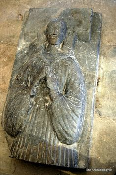 Fragment of a medieval tomb effigy from Christchurch Cathedral, Waterford, Ireland