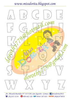 Moldes, Videos Tutoriales y Revistas Gratis de Foami, Goma Eva y microporoso, Compartir es nuestro lema y vayamos por la vida haciendo el Bien Alphabet Art, Letters And Numbers, Zentangle, Spelling, Stencils, Fonts, Doodles, Symbols, Lettering
