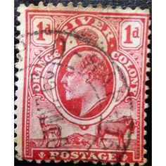 ORANGE RIVER COLONY, KING EDWARD VII, 1 D, 1902 -1910 USED FINE