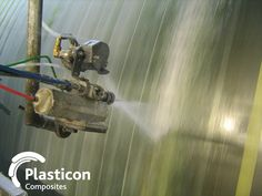 Spray winding process