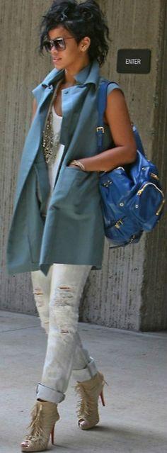 Jeans - J Brand Boots - Christian Louboutin Coat: Marni Bag: Gucci