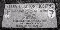 lugar de descanso final de Allen 'Farina' Hoskins, el cementerio Evergreen, Oakland, Cal.