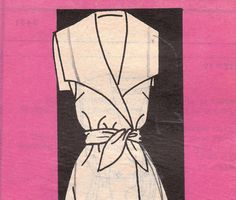 Vintage Wrap Dress Pattern with Modified Sailor by OneMoreCupOfTea, $7.00