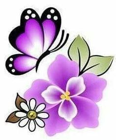 Glue Art, Decoupage Vintage, Butterfly Art, Butterflies, Painted Wine Glasses, Flower Clipart, Free Machine Embroidery Designs, Painted Pots, Stained Glass Patterns