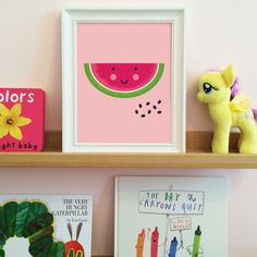This adorable watermelon infuses a bit of summer into your child's room, even when it's frosty outside. A pop of cuteness and color that is guaranteed not to fade over time. Comes in five sizes that f