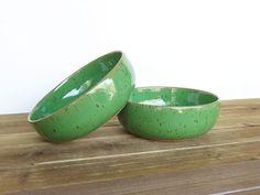 Bright Spring Green Stoneware Ceramic Pottery by dorothydomingo