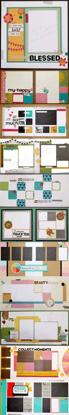 CTMH Scrapbooking Layouts