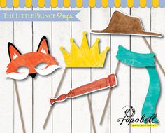 The Little Prince Props for The Little Prince Birthday. Instant Download Watercolor Le Petit Prince Photobooth Props. DIY Printable. DIGITAL