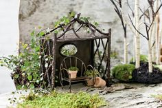 "Invite some wee folk to a picnic, build them a pebbled cottage, or design a frozen ""pond"" for them to skate on. These magical fairy gardens and plants will insp . See Moreire you to come up with your own creations."