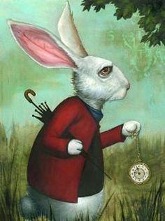 White Rabbit by Kevin Eslinger Wonderland art