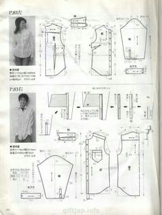 Amazing Sewing Patterns Clone Your Clothes Ideas. Enchanting Sewing Patterns Clone Your Clothes Ideas. Sewing Men, Love Sewing, Blouse Patterns, Clothing Patterns, Rap, Sewing Blouses, Cotton Shirts For Men, Japanese Books, Easy Sewing Patterns