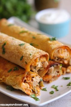 Eat Cake For Dinner: White Chicken Chili Baked Taquitos