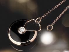 Amulette de Cartier Necklace Pink Gold, onyx, diamonds  Julien Claessens & Thomas Deschamps © Cartier
