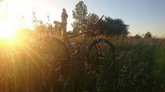 First ride of Credit: Matthew Raschcke. Bike Design, Mtb, Mountain Biking, Cycling, Country Roads, Celestial, Adventure, Sunset, Outdoor