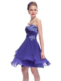 HE03969SB06, Sapphire Blue, 4US, Ever Pretty Short Prom Dress For Juniors 03969