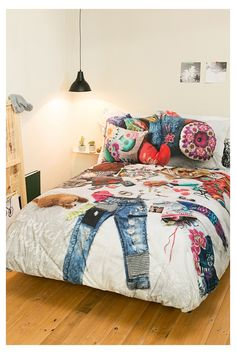 Messy Bed Bedding by Desigual: Daniadown Bed Bath & Home Girls Bedroom, Bedroom Sets, Girl Room, Bedroom Decor, Messy Bed, Deco Boheme, Blue Bedding, Neutral Bedding, Twin Comforter