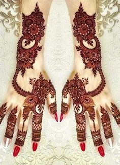 Henna Hand Designs, Mehndi Designs Finger, Mehndi Designs For Girls, Stylish Mehndi Designs, Wedding Mehndi Designs, Latest Mehndi Designs, Beautiful Henna Designs, Henna Tattoo Designs, Floral Henna Designs