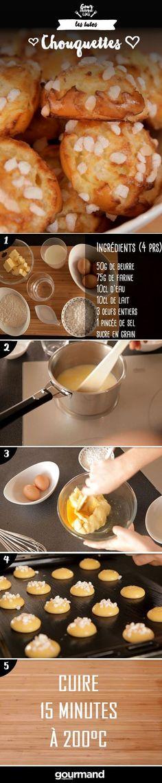 Retrouvez la recette de ces délicieuses chouquettes sur le site de Gourmand. Vous allez adorer !