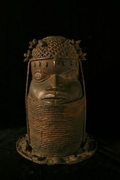Edo Uhunmwun Elao (Oba Ancestral Memorial Head) Benin, Nigeria http://www.imodara.com/post/91456220864/nigeria-edo-uhunmwun-elao-oba-ancestral-memorial