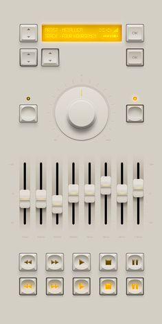 Player & Screen Button UI by Chris Farina via Dribbble