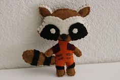 Guardians of the Galaxy Inspired Felt Rocket Raccoon Key Chain Plush Toy on Etsy, $12.00