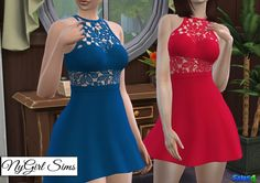 Crochet Flare Dress at NyGirl Sims • Sims 4 Updates