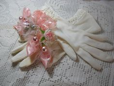 Beautiful Pink Millinery Christmas Corsage and by justjunkin2, $25.00