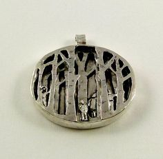 In this special sterling silver pendant, there are five children playing hide and seek in the forest right before the sun goes down. They are laughing, running, hiding, and enjoying every minute of being a child. I hope this special piece will remind of wonderful times from your childhood.