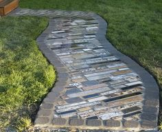 How To Make A Walkway Using Recycled Counter Top Granite Scrap