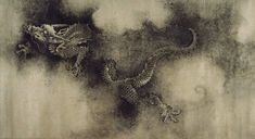 Detail of the Nine Dragons scroll painting by Chen Rong, 1244, Song Dynasty