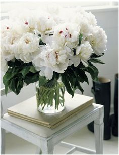 Bright white flowers are the perfect accent to any and every room...from The Pursuit Aesthetic.