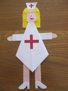 Nurse crafts for preschool All About Me Preschool, Preschool At Home, Preschool Activities, Diy For Kids, Crafts For Kids, Arts And Crafts, Help Kids, Community Helpers Activities, Nurse Crafts