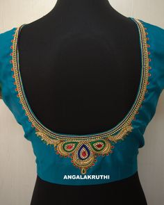Angalakruthi Ladies and kids boutique in Bangalore, Neck designs, Hand Embroidery designs, Hand Embroidery in Bangalore, Parrot designs Hand Embroidery, zardosi work blouses, Blouse Hand Embroidery designs, Designer blouse designs, pattu blouse zardosi work designs, pattu blouse designs for back, blouse designs hand work, work blouse designs for pattu sarees, work blouse designs catalog, latest blouse back designs, maggam work blouse back design, latest embroidery,work blouses,