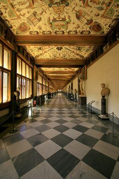 Uffizi Gallery, home of the Medici's art collection. Florence, Italy