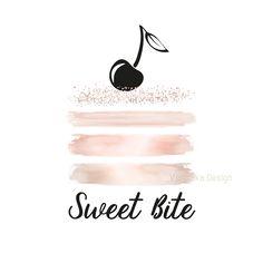 Bakery Logo Design Digital Pre Made Cake Cupcake