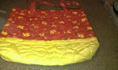 Red/ Yellow Jungle Animal Quilted Diaper Bag by RoseCityCrafter, $40.00