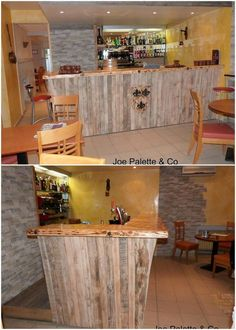 To have an arrangement of bar counter in your house, setting the bar design of wood pallet in your house will always look so awe-inspiring. This L shaped wood pallet bar design is accompanied with the textured pattern design work as infused over the top of the surface.