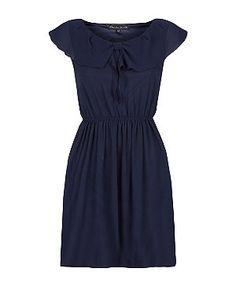 Navy (Blue) Mela Navy Frill Collar Skater Dress   296868341   New Look