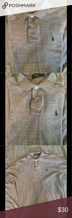 Ralph Lauren POLO heather grey polo so medium Solid grey,  gently worn, great condition Polo by Ralph Lauren Shirts Polos
