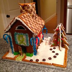 How to Make a Sturdy Gluten Free Gingerbread House.